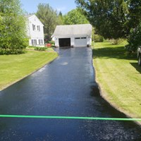 Paving & seal coating new driveway in Wappingers Falls