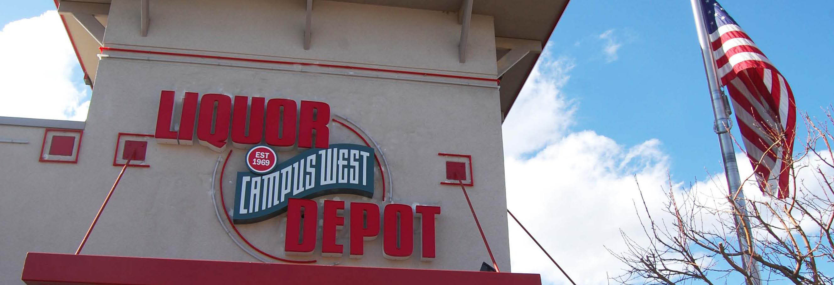 Campus West Liquors near Colorado State University in Fort Collins, Colorado
