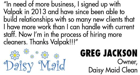 Customer satisfaction near Daytona, FL re: Valpak digital marketing