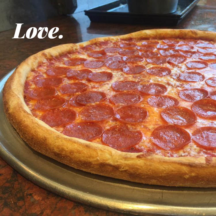 Plenty of love baked into every pepperoni pizza - we promise