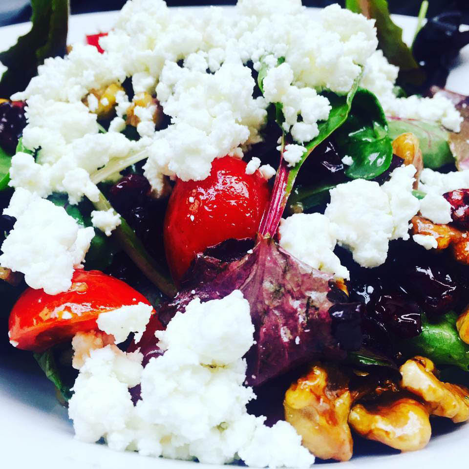 Only the freshest veggies and cheeses go into our salads
