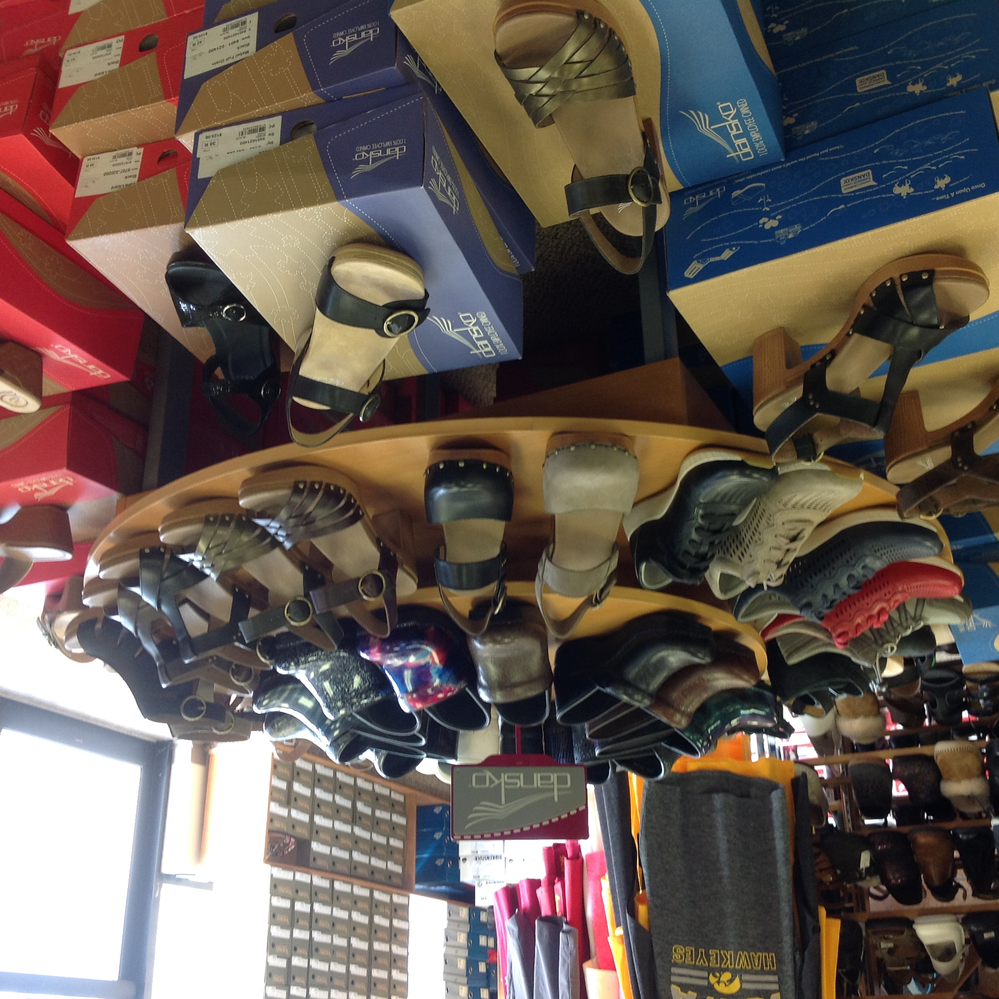 Dansko shoes in many styles in the Ames, IA vicinity