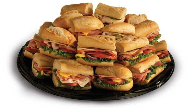 Tray of sub sandwiches served at Tinley Park and Manteno Darlas.