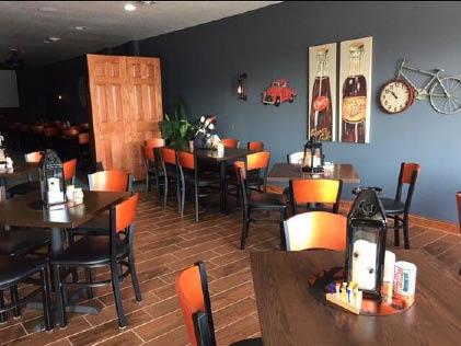 Dining room at Darla's Gaming Cafe & Deli in Manteno, IL.