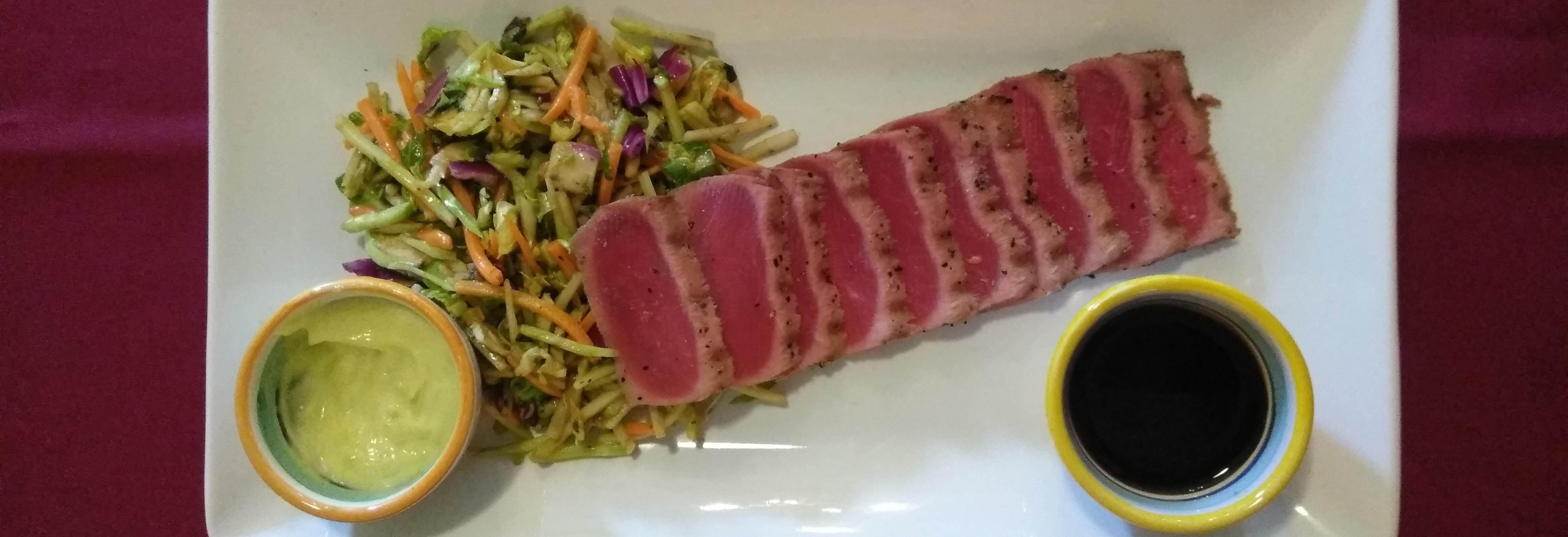 Ahi Tuna & Lemon Rocket Salad Sunday Brunches