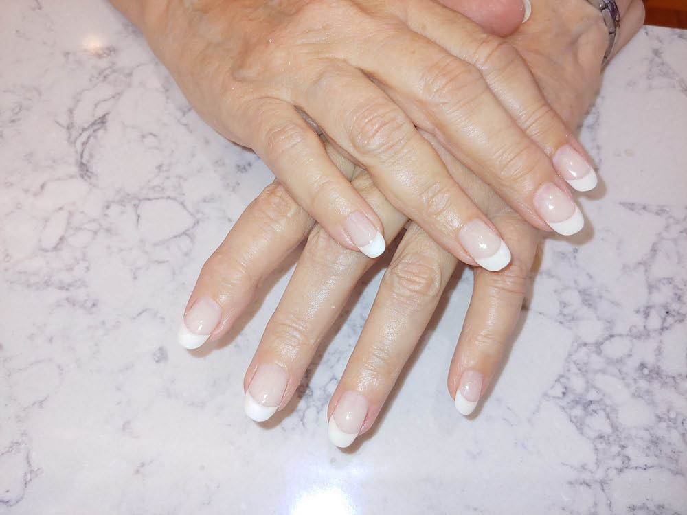White Nails at Days by Nails in East Hanover, NJ