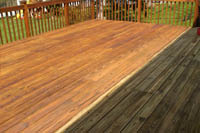 Power Washing, Eastern Panhandle Power Washing, House Washing, Deck, Deck Washing, Dirty Deck, Clean Deck, Before & After