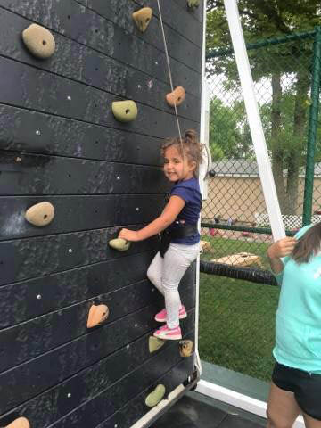 Your kids will love our rock climbing wall.