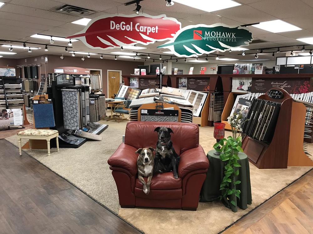 flooring showroom; DeGol Carpet; laminate floors; wood floors