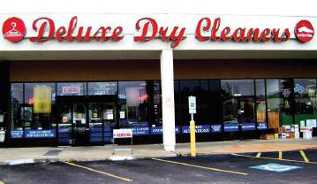 Delux Cleaners store exterior near Cypress