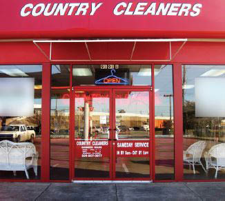 Country Cleaners building external view near Westgate