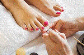 Pedicure at Deluxe Nails & Spa in Plymouth, MI