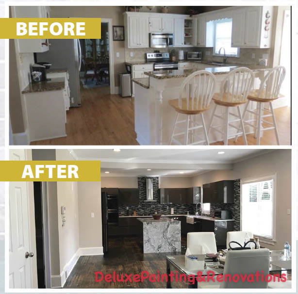 Before & After Kitchen Remodeling from Deluxe Painting & Renovations in Norcross GA