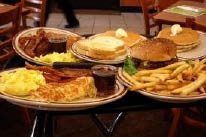 Denny's lunch and dinner menu is fast and light.