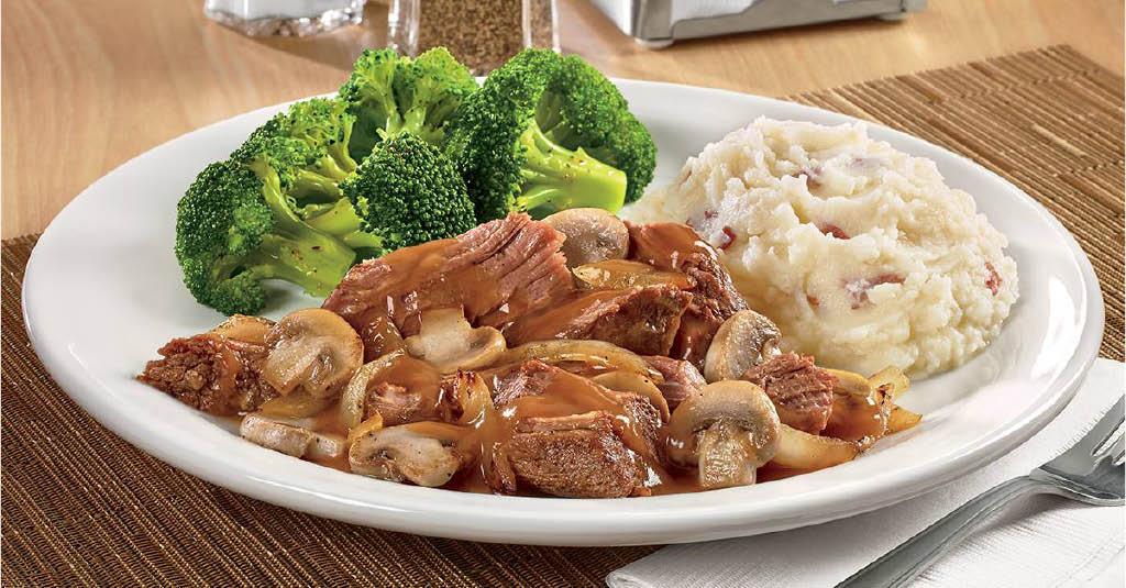 Denny's slow cooked pot roast in Cathedral City CA