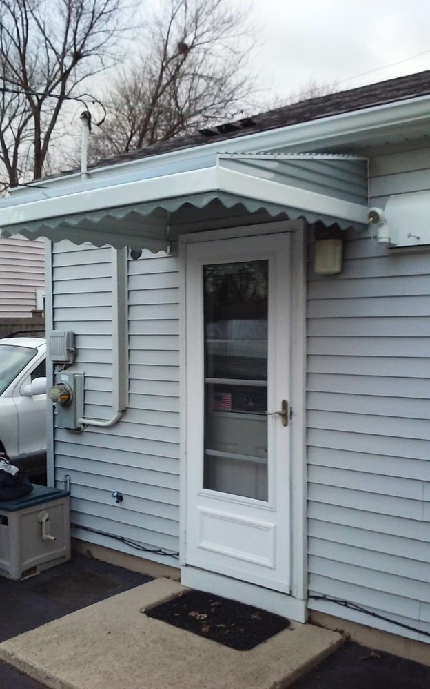 custom back door awning