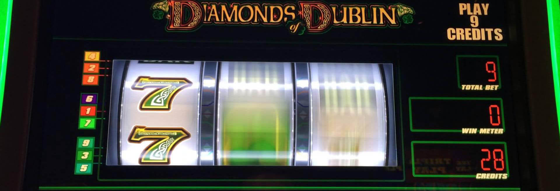 Diamonds of  Dublin video slot machine at Lacey's Place.