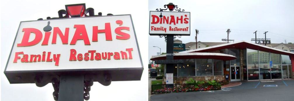 Dinah's Family Restaurant in Culver City, CA banner ad