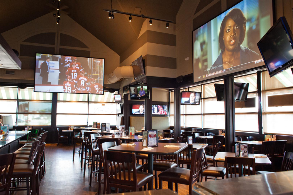 dining big screen tvs