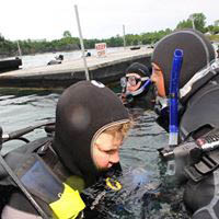 Divers suit up for in-water scuba diving in Lagrangeville, NY