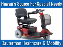 Assisted living products in Honolulu; mobility scooters