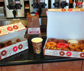 Dozens of endless combinations of a dozen boxed donuts