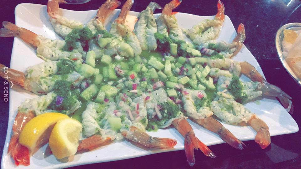 Our Special House Shrimp Nachos