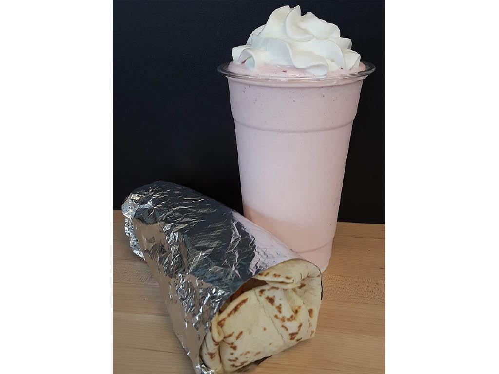 Double Happy burrito and shake