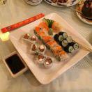 sushi; sashimi; ginger salad; pad thai