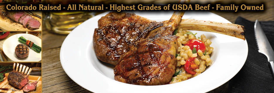 Double J Signature Cuts offers the highest grades of all natural USDA beef and lamb from Colorado.