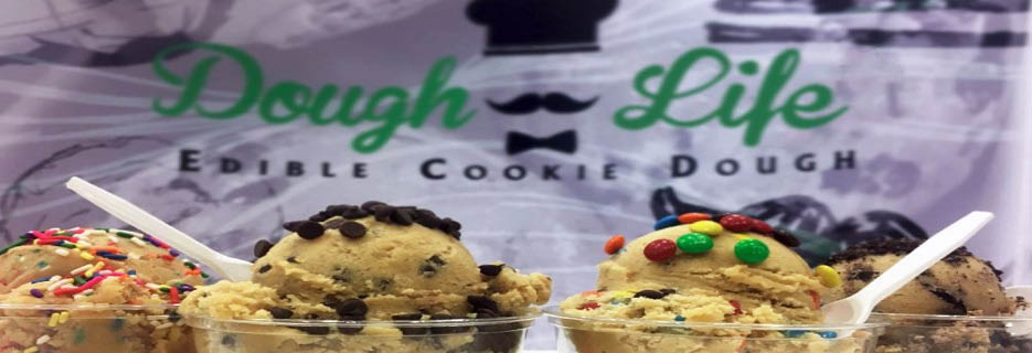 edible dough, cookie dough, toppings, sweets