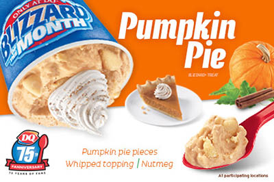 dq pumpkin pie blizzard coupon rochester ny