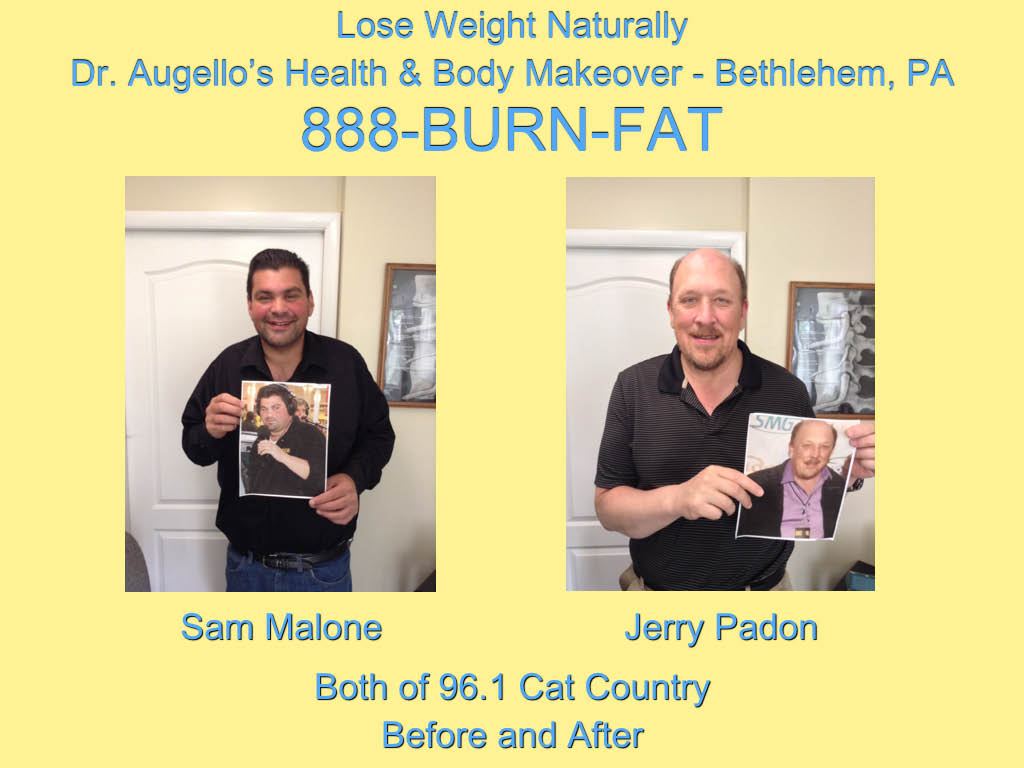 Sam Malone, Jerry Padon, Cat Country 96, Dr Augello, Natural Weight Loss, lose weight lehigh valley, infrared sauna, clear channel