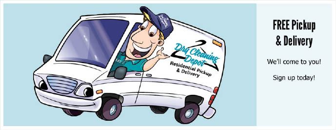Call Dry Cleaning Depot for free pickup and delivery service in Fort Lauderdale