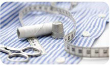 Dry Cleaning Super Center logo; laundry services; alterations