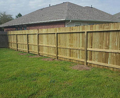 Before and after treated pine installation near Willow, TX