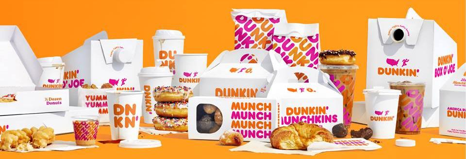 Dunkin menu items available in store or Dunkin app