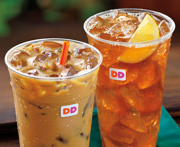Iced coffee and tea served all day at Dunkin'!