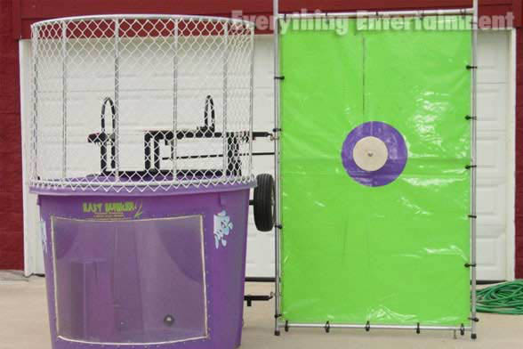 Dunk tank, arcade games, lawn games, dunk tank rental, party games, tent rental, ping pong, money booth, bounce house, obstacle course, slides, concessions, event planning, event lighting, staten island entertainment