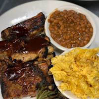 Barbecue meats with choice of 2 side dishes in Poughkeepsie