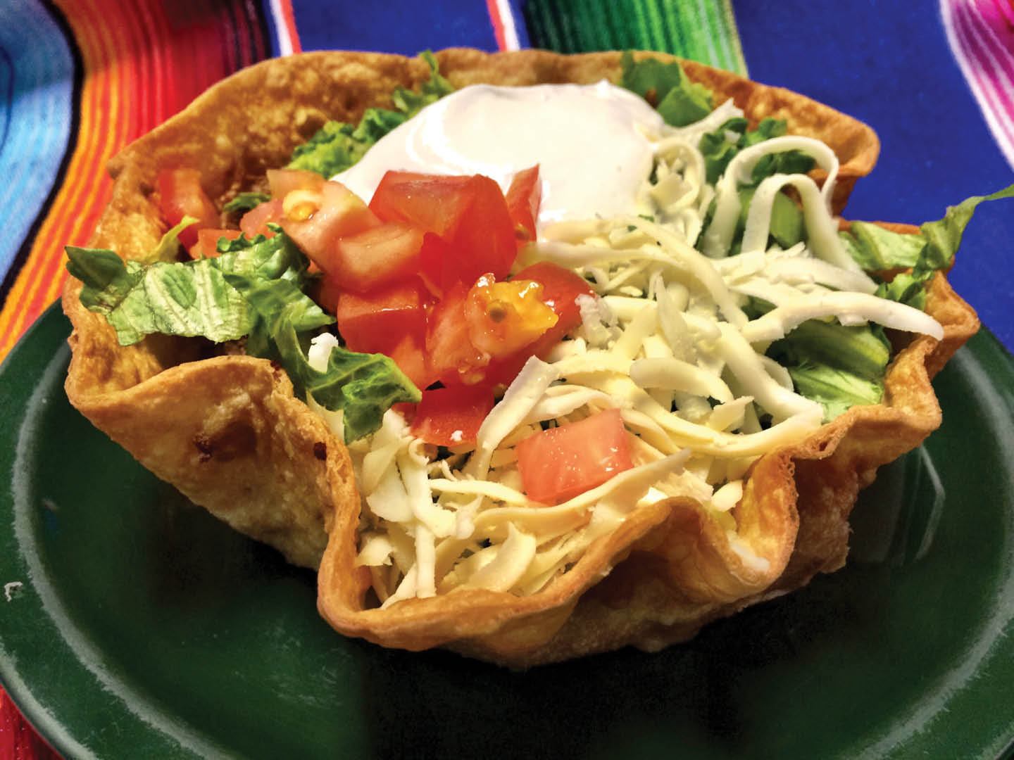 mexican food, taco salad, el paso mexican grill located in dumfries, virginia