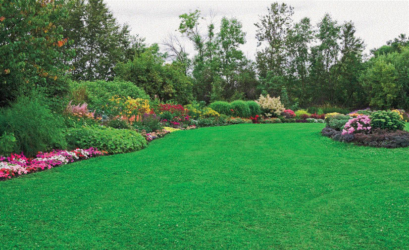 Beautiful landscaped yard with Earth Concepts Lawn Maintenance in Livonia, MI
