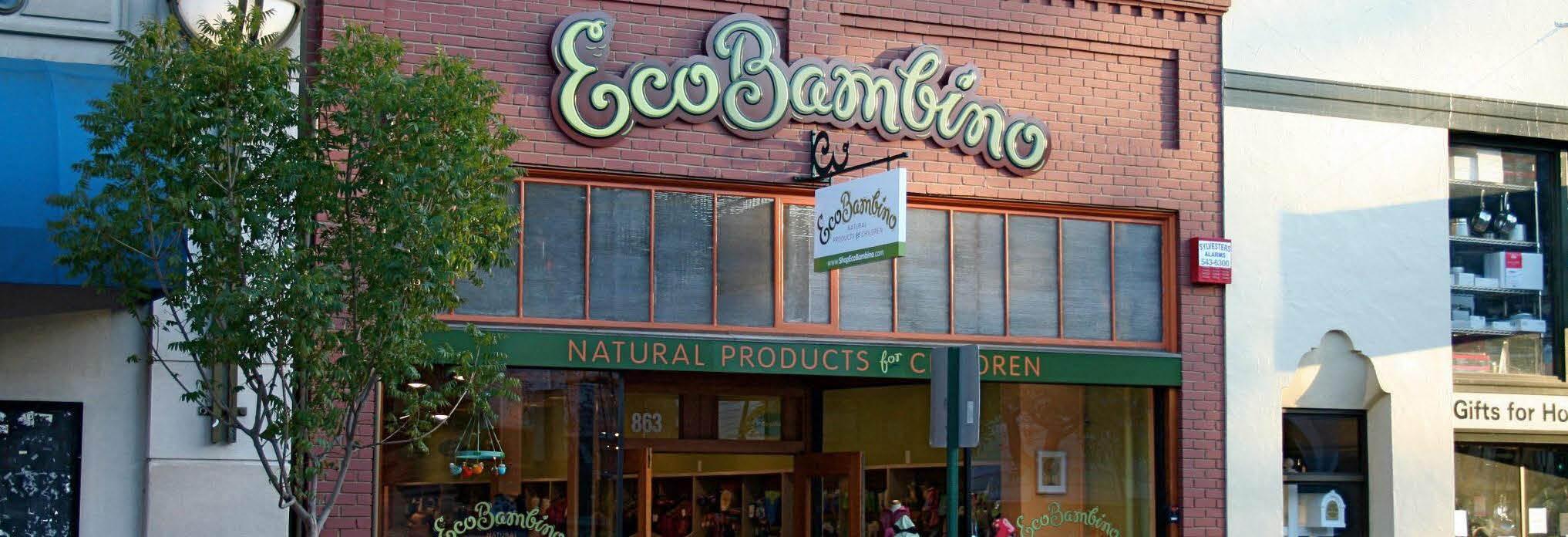 EcoBambino children's store San Luis Obispo CA banner