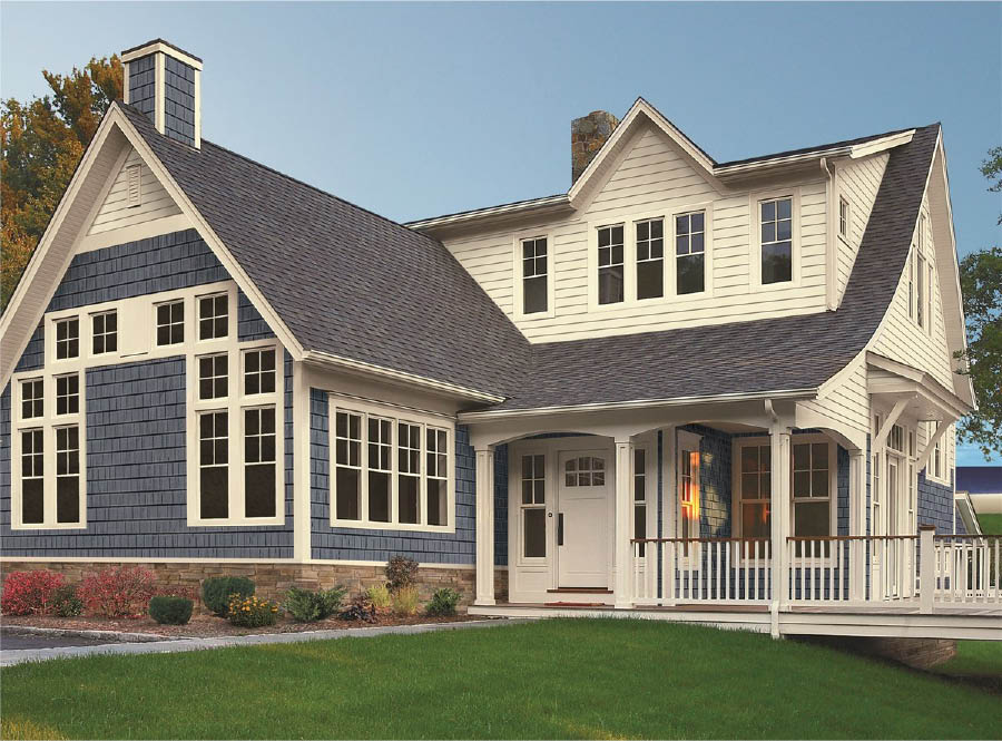 large two-story home with new siding and windows in Houston, TX