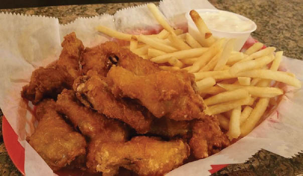 chicken tenders and fries at Eddie's Alehouse; Sun Prairie