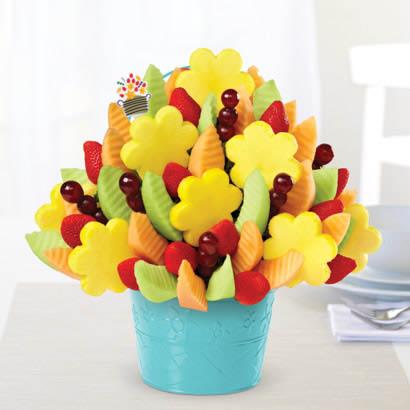 An Edible Arrangements mixed fresh fruit bouquet