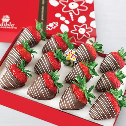 One dozen gourmet chocolate-covered strawberries