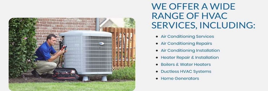 air conditioning, heating, water heaters, generators