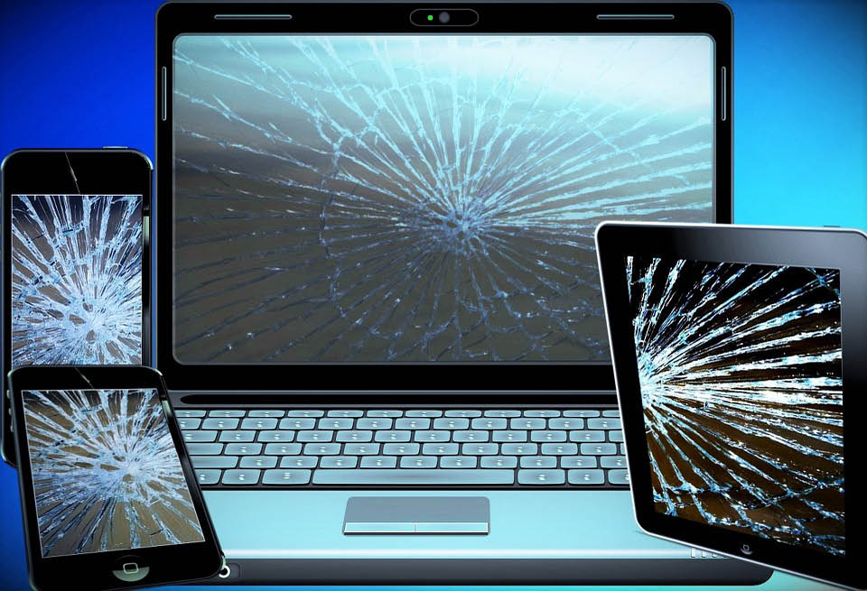 cracked computer tablet screens