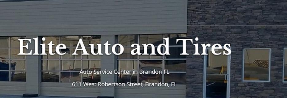 THE ELITE TOTAL CAR CARE BANNER , BRANDON, FL